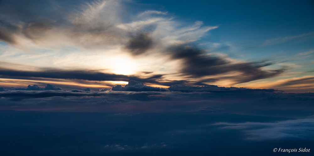 Sunset above the clouds 3