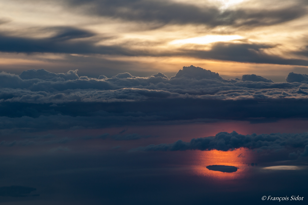 Couché de soleil sur l'île