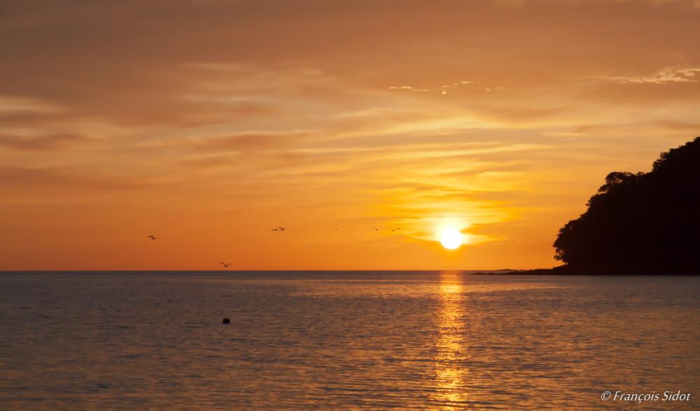 Couché de soleil sur la côte pacifique
